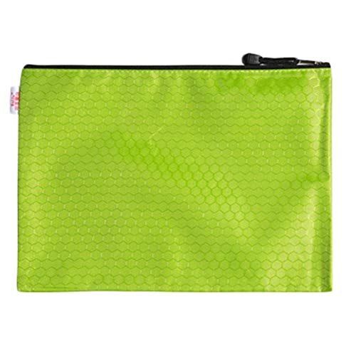 DaoDai Briefcase Conference Travel Zipper Waterproof Insert File Bag 12 Layer Oxford Cloth Organ Bag IPad Handbag Storage for Holiday and Office (Green)