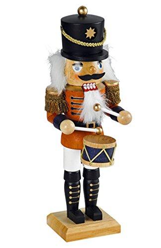 """Nussknacker Nußknacker """"Trommler"""" ca. 18 cm hoch aus Holz farbig Weihnachten Advent Geschenk Dekoration (50731-18)"""