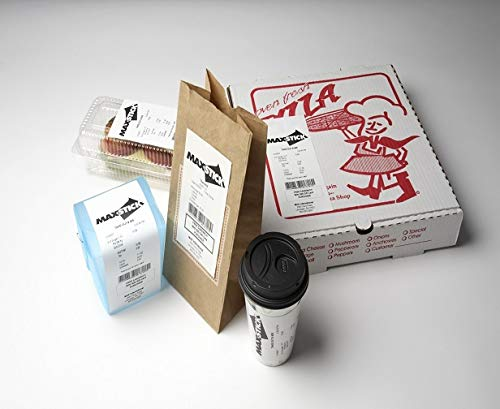 Maxstick Sticky Receipt Paper White Center Adhesive