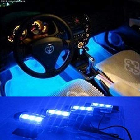 Gearmax® 12V Auto Gebühren LED Auto Innenraum Atmosphäre Beleuchtung Innenbeleuchtung Innenlampen Dekoration Lampe (Blau)