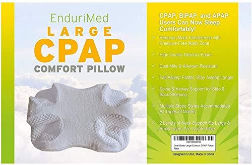 CPAP Pillow w/Extra Cooling Mesh Pillow Case (Blue) - Memory Foam Contour Design Reduces face &...