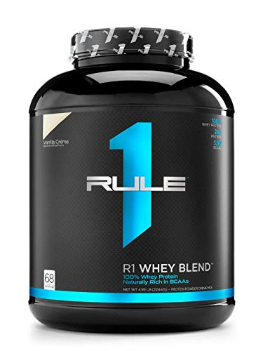Rule One Proteins R1 Whey Blend, Rule 1 Proteins, Vanilla Ice Cream, 68 Servings, 4.95 lb, 79.2 oz