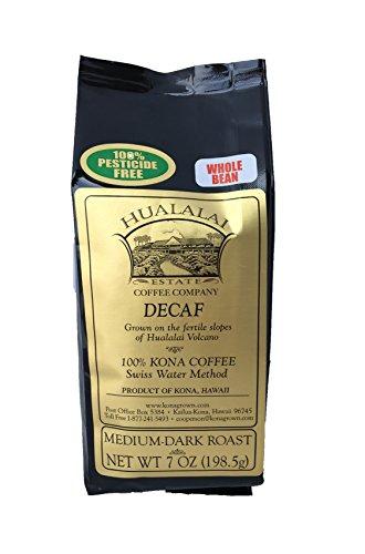 Hualalai Estate Coffee 100% Kona Coffee DECAF 7 oz whole bean