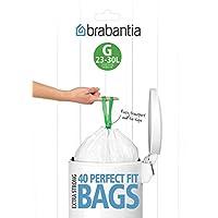 Brabantia 375668 Expendedor Bolsas de Basura, Blanco, 23-30 L