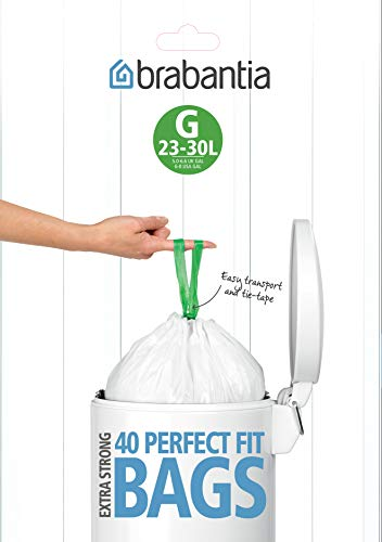 Brabantia Bin Liners, taille G, 23-30 L - 40 sacs