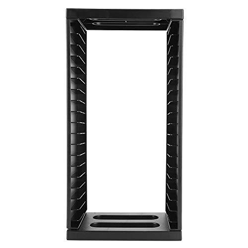 Estante de almacenamiento universal de doble capa para PS4 Slim Pro, torre de almacenamiento de discos de juegos de gran capacidad multifuncional, organizador de soporte de estante de 36 discos de jue