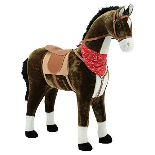 Sweety Toys 5048 Plüschpferd Reittier Stehpferd chocolate Größe ca. 105 cm