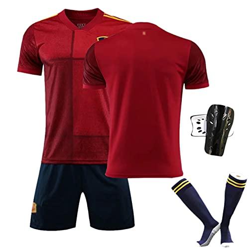 CWWAP Jersey de fútbol para Hombre se Adapta a la Camiseta de fútbol de España, 15 Ramos # 6 A.Iniesta # 10 ISTO, 2021 National Team Training Uniform, Team Club Sportwea no num-S