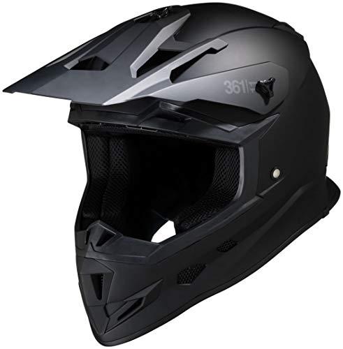 IXS Motorradhelm 361 1.1 matt schwarz L Schwarz