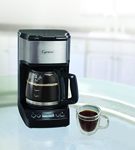 Capresso 5-Cup Mini Drip Coffee Maker, Black and Stainless Steel