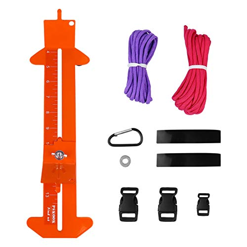 ULTNICE 1 Set Paracord Bracelet Jig Kit Bracelet Maker Paracord Tool Kit Adjustable Length Stainless Steel Weaving Diy Craft Maker Tool Orange