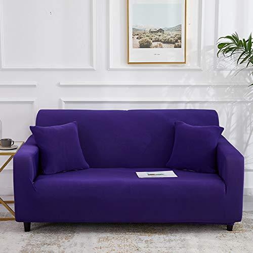 WXQY Funda de sofá monocromática Sala de Estar Funda de sofá elástica elástica combinación de Esquina Chaise Longue sillón Funda de sofá A16 1 Plaza
