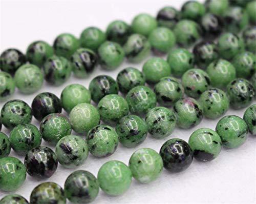Lot de 37 perles de zoïsite rubis naturel 4 mm 6 mm 8 mm 10 mm 12 mm