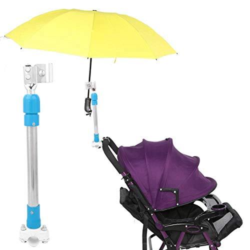 Kadimendium Equipo de Cochecito de Bicicleta eléctrica para Bicicleta, Soporte de Montaje de Paraguas Extensible al Aire Libre, Soporte para Montar en senderos para Deportes Escolares(Blue)