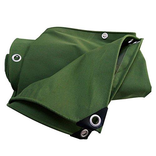 ZEMIN Bâche Protection Couverture Transparente Crème Solaire Imperméable Drap Tente Toit Coupe-Vent Compact Lisse Polyester, Gris, 650G/M², 13 Tailles Disponibles (Color : Green, Size : 2X10M)