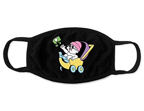 Bbno$ Merch Stroller Black Face Mask Accesorios Merch for Men Women Youth Breathable Soft Fabric