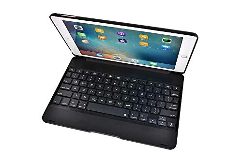 Keyboard Case For ipad 10.2/10.5 Wireless Bluetooth Keyboard Foldable Stand Case ABS Cover For iPad Air 1/2 9.7-Black_iPad 10.2 2020