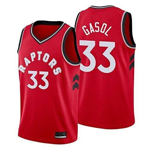 Li Long Baloncesto Jersey NBA Jersey-Raptors 33# Gasol Transpirable usable Deportes Chaleco más Fans de New Edición Camiseta de la Fan (Size : S)