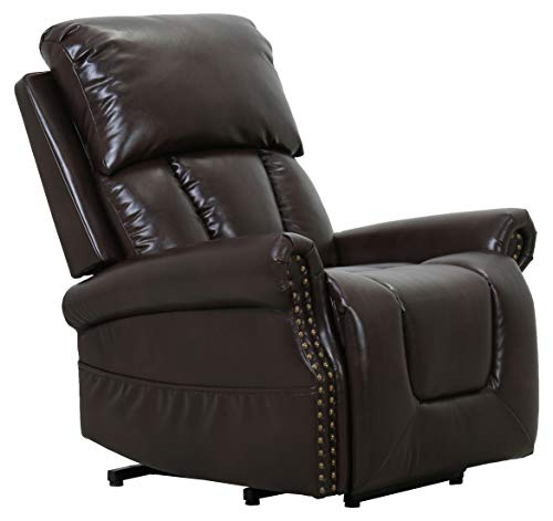 Amazon Brand – Ravenna Home Albert Power-Lift Assist Recliner Chair, 34.3'W, Dark Brown
