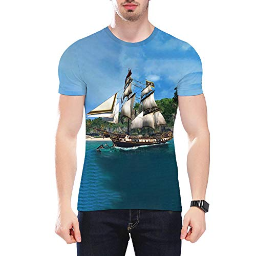 Fun-Tops & Shirts3D-Digitaldruck Wie In Segelhemd Gezeigt Kurzarm Lose Paar T-Shirt-Wie In_S Gezeigt