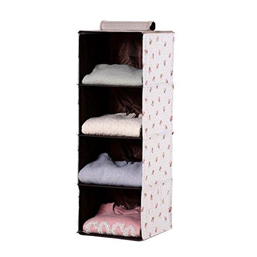 Sacs de rangement Xuan - Worth Another White Saffron Pattern Wardrobe pour vêtements de Rangement Garde-Robe sous-vêtements Coffre à tiroir Multicouches Boîte de Rangement en Tissu