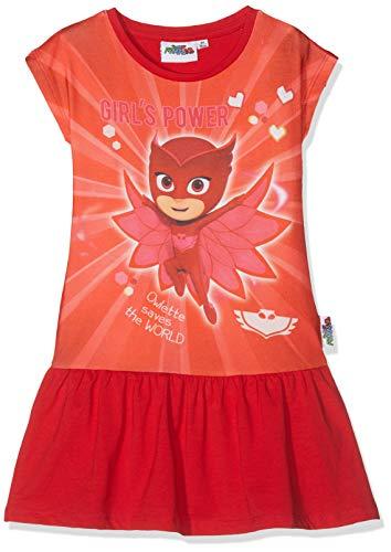 Pyjamasques PJ Masks Mädchen 6240 Kleid, Rot Rouge, 8 Jahre