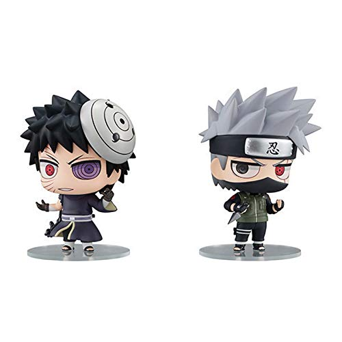 Naruto Action Figuren Hatake Kakashi Uchiha Obito PVC Animierte Charaktere Modell Statue Dekoration Action Figur Kinder Boxed Geschenk A