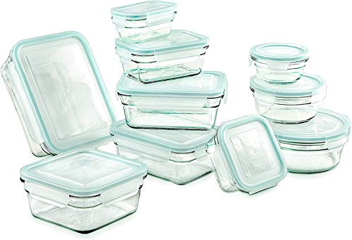 Airtight AntiSpill Proof Tempered Glasslock Storage Containers 20pc set~Microwave amp Oven Safe