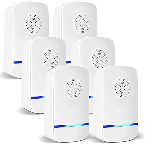 6 Packs Ultrasonic Pest Repeller, 2020 Upgraded, Indoor Electronic and Ultrasonic Pest Repeller for Mosquitoes, Roaches, Flea, Mice, Spiders, Ants, Humans & Pets Safe - Effective Pest Defender