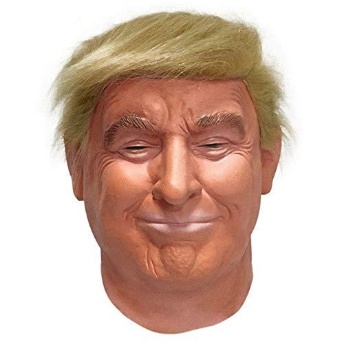 Yunbai Máscara de látex de Halloween Trump Presidente Deluxe látex Cabeza Completa Donald Trump máscara Naranja de Pelo Mejor opción for Cualquier Partido (Color : Orange)