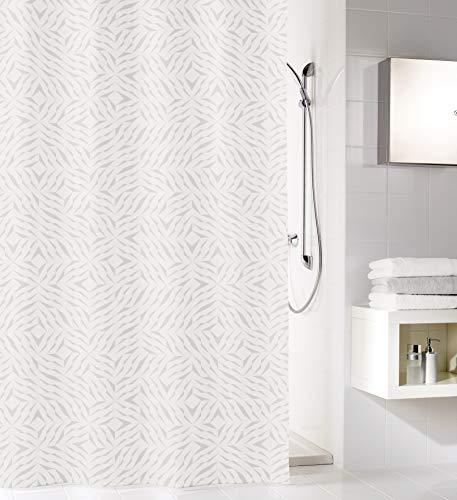 Kleine Wolke Style Duschvorhang, Textil PES, Silbergrau, 180x200 cm