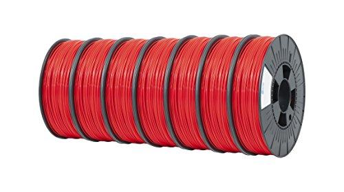 ICE FILAMENTS ICE7VALP117 Lot de 7 filaments en PET Rouge 1,75 mm 0,75 kg