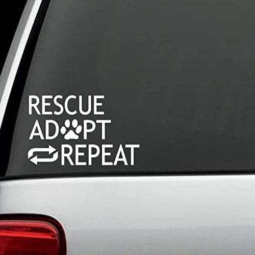 Bluegrass Decals E1058 Rescue Adopt Repeat Dog Lovers Decal Sticker