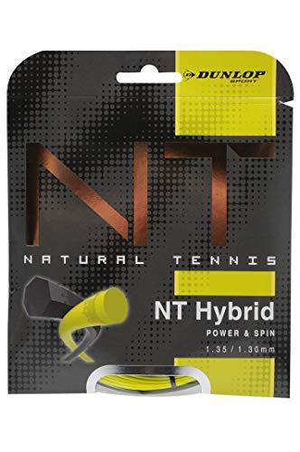 Dunlop Unisex-Adult Saitenset tennis string Revolution NT Hybrid 1.35/1.30 schwarz/gelb 12m Set, One Size