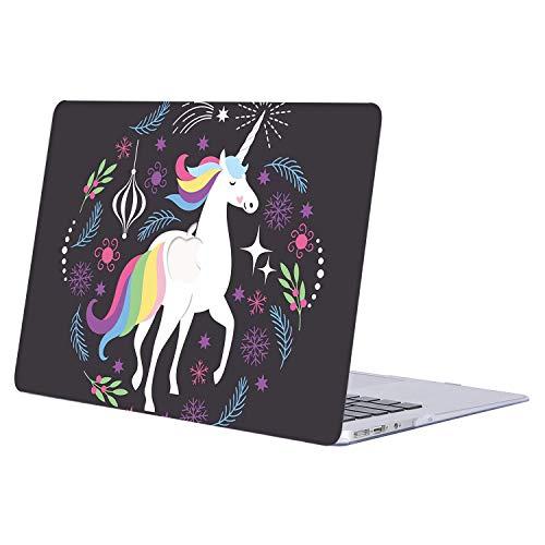 AJYX Funda Dura para MacBook Air 13 Pulgadas (Modelo A1369 / A1466, Versión 2010-2017), Carcasa Rígida Protector de Patrón de Plástico Cubierta, R285 Unicornio