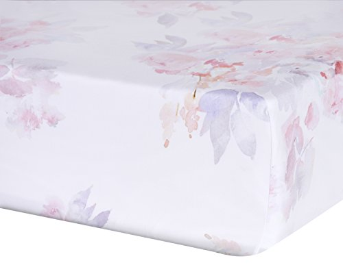 Oilo Prim Jersey Crib Sheet, Blush