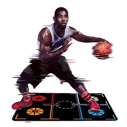 Tapete de entrenamiento de baloncesto,tapete de goma para sistema de entrenamiento de pies,con bolsa de almacenamiento portátil, para entrenamiento de control de balón para jóvenes / adultos,41 'X 30'