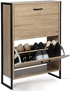IDMarket - Meuble à chaussures LUIS 2 portes design industriel