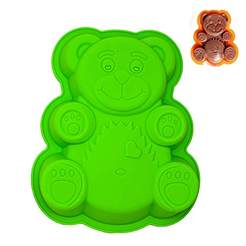 KeepingcooX Super mignon Large Silicone Animal Moule Bear, BPA Free, 21 x 17 x 2 cm
