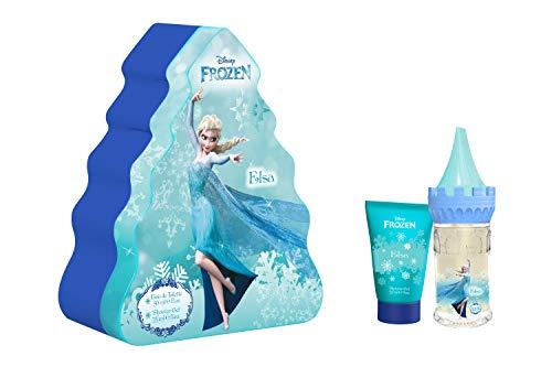 Mr White Jr Coffret Cadeau Beauté en Métal la Reine des Neige Elsa Eau de Toilette 50 ml/Gel Douche 75 ml