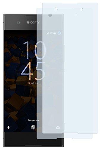 mumbi Schutzfolie kompatibel mit Sony Xperia XA1 Plus Folie klar, Bildschirmschutzfolie (2X)