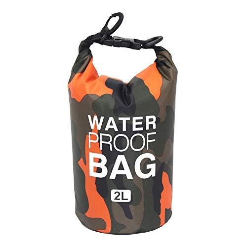Icegrey Bolsa Seca Impermeable con Correa para Kayak Paseo en Barco Canoa/Pesca/Rafting/Natación/Snowboard Naranja 10L
