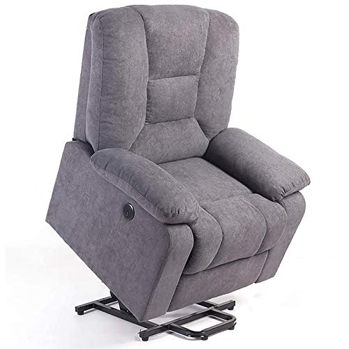 ZZYYZZ Power Lift Recliner Chair Electric Massage Heat Vibration Living Room Lounge Massage Chair with Pockets, Gray