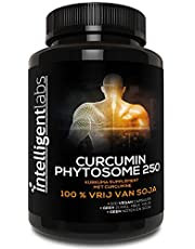 Intelligent Labs 250MG Meriva curcumine fytosoom, 2900% beter geabsorbeerd dan gewone kurkuma curcumine, 100% sojavrij, 120 capsules per fles