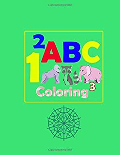 Coloring ABC: ABC for coloring, kids coloring activity books - animal abc coloring book | 107 pages 8.5 x 11 inch