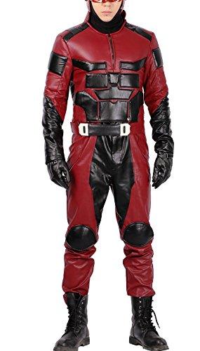 Daredevil Costume Deluxe Top Pants Outfit Adult Halloween Superhero Cosplay Suit XXL