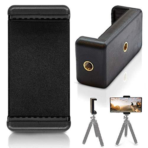 INVID 55-85mm Stativ Halter für Handy Ständer Tisch Handy Halter Handyhalterung Tisch Aufsteller tragbarer Handyständer kompatibel mit iPhone 12 11 Pro Max XS, Galaxy S20 S10, Huawei P30 Pro