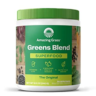 Amazing Grass Greens Blend Superfood: Super Greens Powder with Spirulina, Chlorella, Digestive Enzymes and Probiotics, Original, 30 Servings (Packaging May Vary) (B00112ILZM)   Amazon price tracker / tracking, Amazon price history charts, Amazon price watches, Amazon price drop alerts