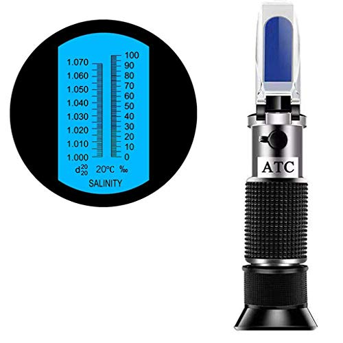 SMARTSMITH Salinity Refractometer for Seawater and Marine Fishkeeping Aquarium 0-100 PPT with Automatic Temperature Compensation