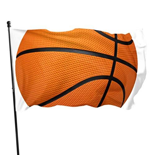 GOSMAO Bandera de jardín Trazado de Recorte de Baloncesto Color Vivo y Resistente a la decoloración UV Bandera de Patio Cosida Doble Bandera de Temporada Bandera de Pared 150X90cm